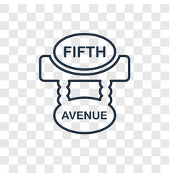 Fifth avenue concept linear icon isolated on vector