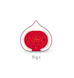 figs simple icon vegan logo template minimalism vector image