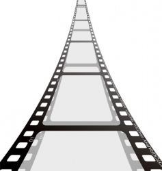 Film strip reel vector