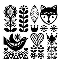 Finnish folk art pattern - Scandinavian Nordic vector image