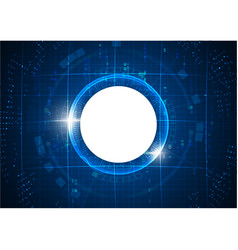 Futuristic blue circle digital technology vector