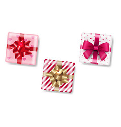 gift box isolated white background vector image