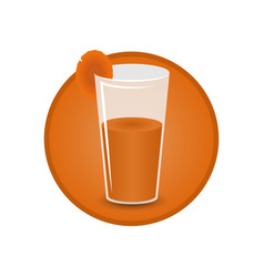 glass of carrot juice vector image