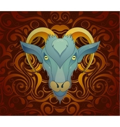 Goat as symbol for year 2027 vector image