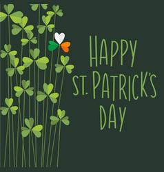 happy st patricks day shamrocks retro design vector image