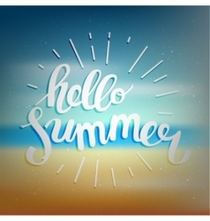 Hello summer summer time vector image