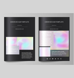 Hologram background in pastel colors holographic vector