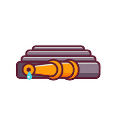 hosepipe or fire hose icon vector image