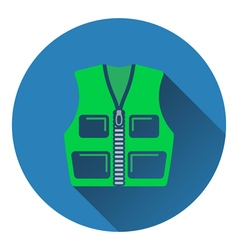 Icon of hunter vest vector image