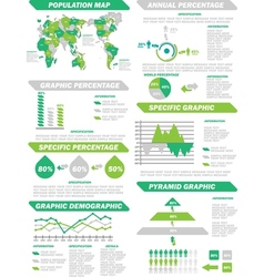 INFOGRAPHIC DEMOGRAPHIC ELEMENTS NEW GREEN vector image