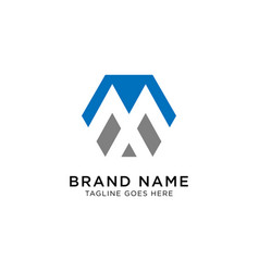Initial m logo design inspiration vector