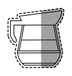 Isolated coffee pot design vector