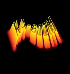 KABOOM vector image
