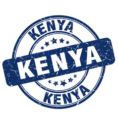 Kenya blue grunge round vintage rubber stamp vector