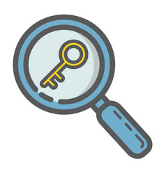 Keyword research filled outline icon seo vector