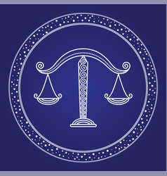 libra horoscope symbol astrology zodiac vector image