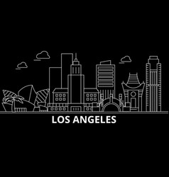 los angeles city silhouette skyline usa - los vector image