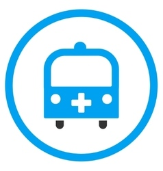Medical Bus Rounded Icon vector