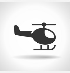 monochromatic helicopter icon with hovering vector image