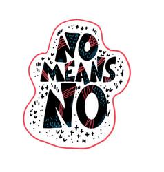 No means no quote text vector
