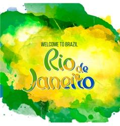 Nscription rio de janeiro brazil vacation vector