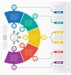 Part of the report with icons set infographic vector