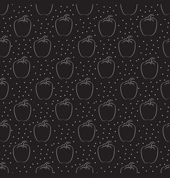 Pepper pattern with dots on a dark background vector