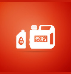 plastic canister for motor machine oil icon vector image