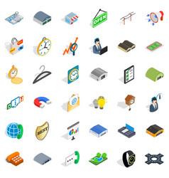 Procurement icons set isometric style vector