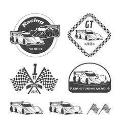 Race car emblems vector