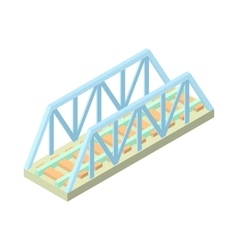 Railway bridge icon cartoon style vector