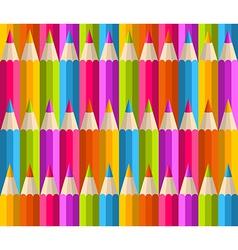 Rainbow pencils pattern vector image