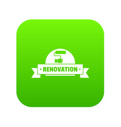 reconstruction icon green vector image
