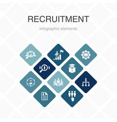 Recruitment infographic 10 option color design vector