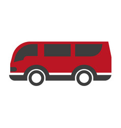 red and black van vector image