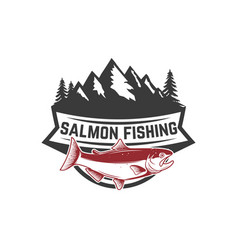 salmon fishing salmon on background with vector image