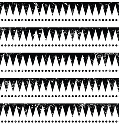 Seamless aztec tribal pattern - retro grunge styl vector