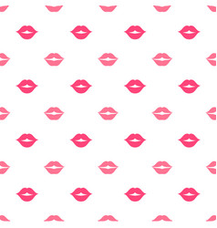 Seamless pattern with women lips vector