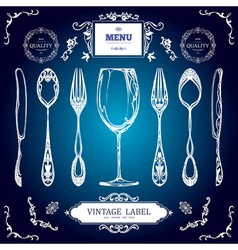 Set of Vintage Decorations Elements Vintage spoon vector image