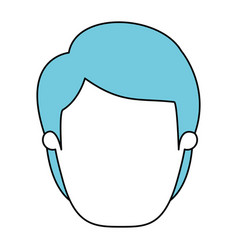 silhouette cartoon front view faceless man with vector image