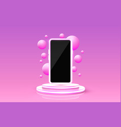 smartphone mobile screen technology mobile vector image