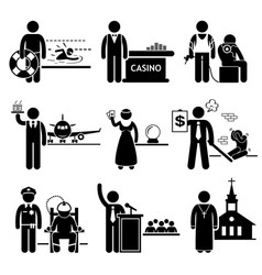 special jobs occupations careers - swimming vector image