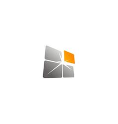 Square shine data technology logo vector