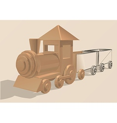 Toy locomotive with wagons vector