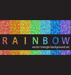 triangle pattern set rainbow seamless geometric vector image