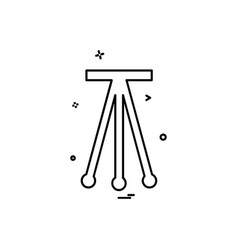 tripod icon design vector image