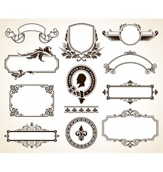 Vector set of ornate frames vector