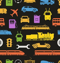 vintage and modern vehicle color silhouettes vector image