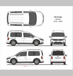 vw caddy alltrack 2015-present vector image