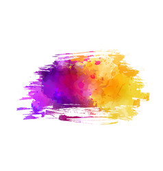 Watercolor imitation brushed background vector